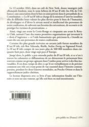 L'histoire du b'nai b'rith ; la plus inmportante organisation humanitaire juive mondiale (2e édition) - 4ème de couverture - Format classique