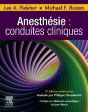 Anesthésie : conduites cliniques - Couverture - Format classique