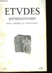 ETUDES ROUSSILLONAISES - REVUE D'HISTOIRE ET D'ARCHEOLOGIE - 1ère ANNEE - AVRIL-JUIN 1951 - N°2 - Couverture - Format classique