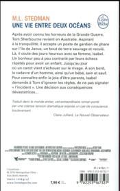 Une vie entre deux océans - 4ème de couverture - Format classique