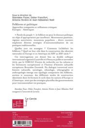 Nouveau livreFolklores et politique - 4ème de couverture - Format classique