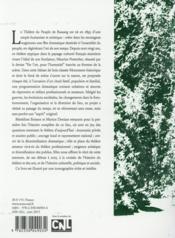 Le théâtre du peuple de Bussang ; cent vingt ans d'histoire - 4ème de couverture - Format classique