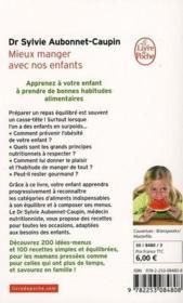 Mieux manger avec nos enfants - Couverture - Format classique
