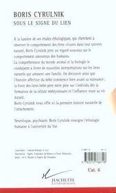 Sous Le Signe Du Lien - 4ème de couverture - Format classique