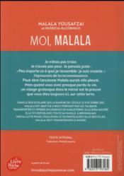 Moi, Malala - 4ème de couverture - Format classique