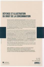 Défense et illustration du droit de la consommation - 4ème de couverture - Format classique
