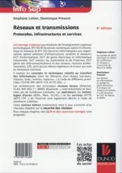 Réseaux et transmissions ; protocoles, infrastructures et services (6e édition) - 4ème de couverture - Format classique