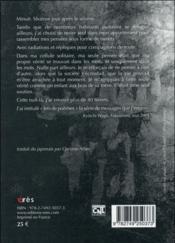 Jets de poèmes ; dans le vif de Fukushima - 4ème de couverture - Format classique