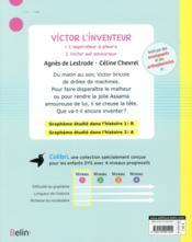 Victor l'inventeur - 4ème de couverture - Format classique
