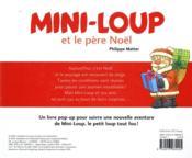 Mini-Loup et le père Noël ; livre pop-up - 4ème de couverture - Format classique