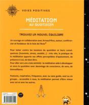 Méditation au quotidien ; trouvez un nouvel équilibre - 4ème de couverture - Format classique