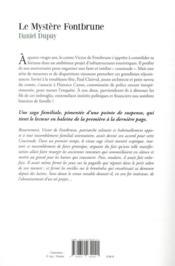 Le mystère Fontbrune - 4ème de couverture - Format classique