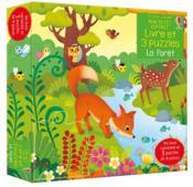 La forêt ; mon petit coffret livre et 3 puzzles - Couverture - Format classique