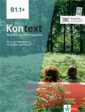 Kontext ; allemand ; livre de l'élève ; B1.1 + - Couverture - Format classique