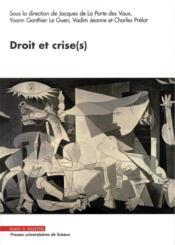 Droit et crise(s) - Couverture - Format classique