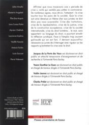 Droit et crise(s) - 4ème de couverture - Format classique