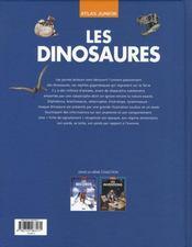 Les dinosaures - 4ème de couverture - Format classique