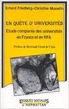 En quête d'universités ; étude comparée des universités en France et en RFA