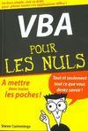 Vba Pour Les Nuls