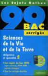 Bac 98-99 Sciences Vie &Terre Corriges