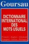 Dictionnaire européen mots usuels