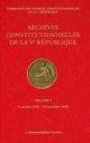 Les archives constitutionnelles de la Ve république