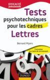 Tests psychotechniques pour les cadres ; lettres
