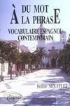 Du mot a la phrase - vocabulaire espagnol contemporain