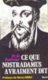 Ce Que Nostradamus A Vraiment Dit