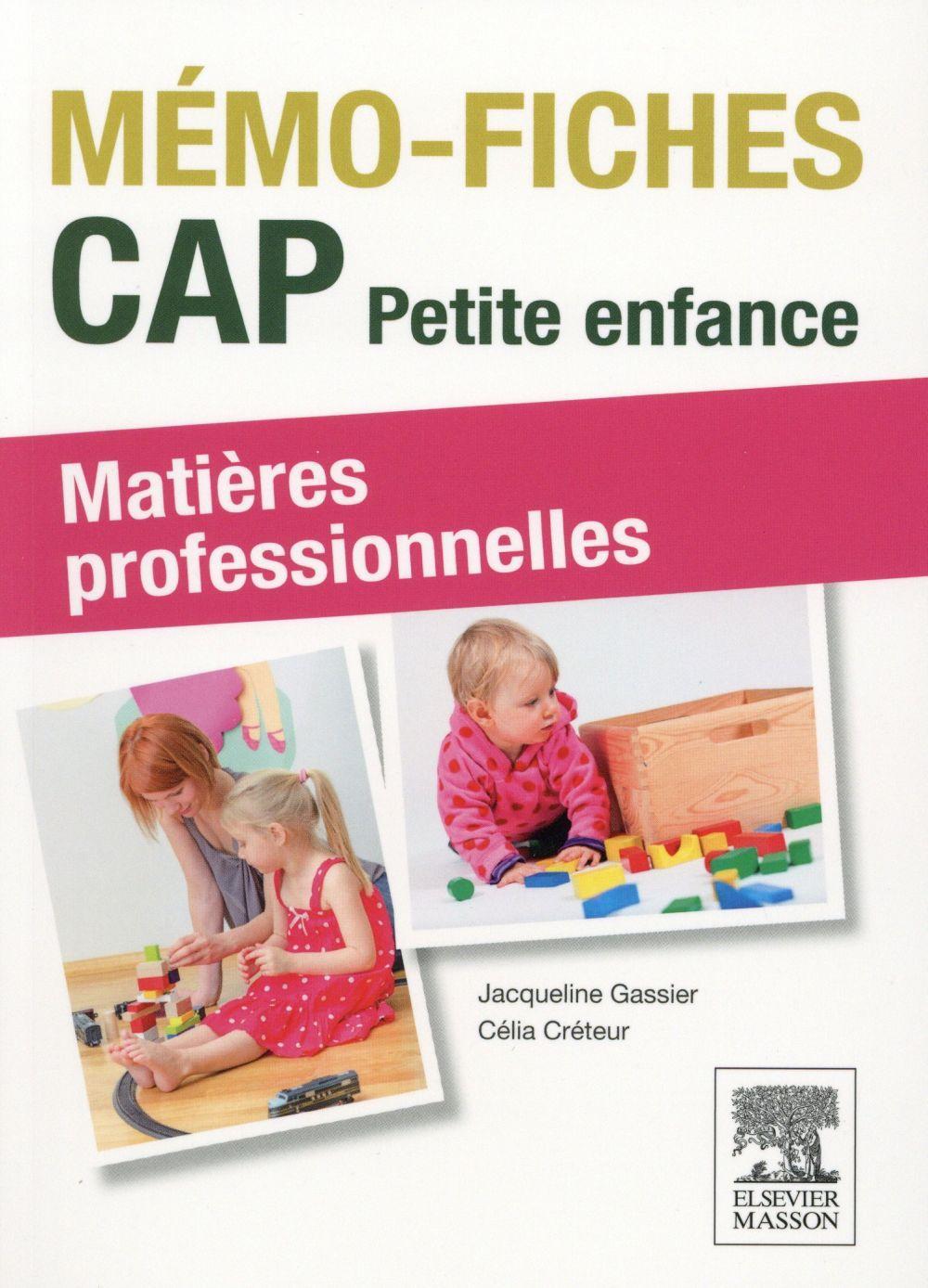 Memo Fiches Cap Petite Enfance 2e Edition Jacqueline