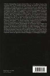 La paléodémographie - 4ème de couverture - Format classique