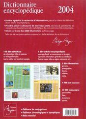 Dictionnaire Encyclopedique Auzou - 4ème de couverture - Format classique