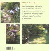 Jardin champetre - 4ème de couverture - Format classique