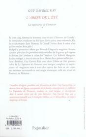 Tap. de fionavar t1-l'arbre de l'ete ne - 4ème de couverture - Format classique
