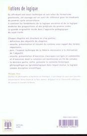 Notions de logique - 4ème de couverture - Format classique
