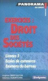 Exercices : Droit Des Societes - Intérieur - Format classique