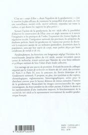 Gendarmerie Etat Et Societe Au Xixe Siecle - 4ème de couverture - Format classique