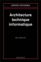 Architecture technique informatique - Couverture - Format classique