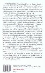 In hui t.58 ; obscur hautbois de brume - 4ème de couverture - Format classique