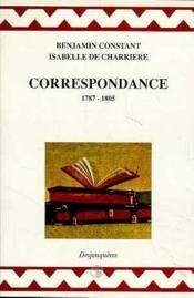 Correspondance 1787-1805 - Couverture - Format classique