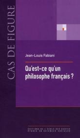Qu'est-ce qu'un philosophe français ? - Couverture - Format classique