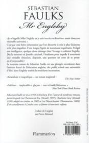 Mr Engleby - 4ème de couverture - Format classique