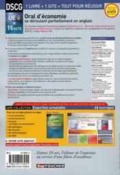 DSCG 6 ; oral d'économie se déroulant partiellement en anglais ; manuel et applications (4e édition) - 4ème de couverture - Format classique