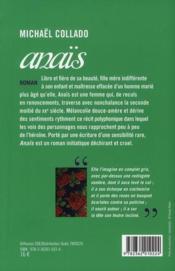 Anaïs - 4ème de couverture - Format classique