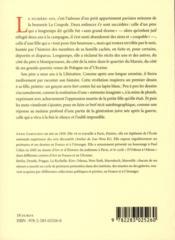 100, boulevard du Montparnasse - 4ème de couverture - Format classique