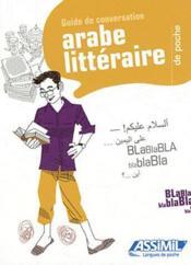GUIDES DE CONVERSATION ; arabe littéraire de poche - Couverture - Format classique