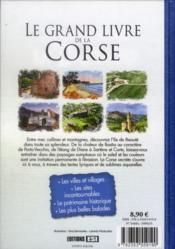 Le grand livre de la Corse - 4ème de couverture - Format classique