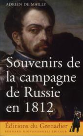 Souvenirs de la campagne de Russie en 1812 - Couverture - Format classique