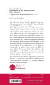 Les processus d'américanisation. t.1 ; ouverture théorique - 4ème de couverture - Format classique