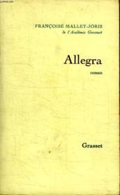 Allegra. - Couverture - Format classique